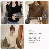 Envy Knit Top Import / Atasan Rajut Wanita / Blouse Baju Import