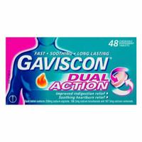 Gaviscon Dual Action 48 Tablet Original Aussie