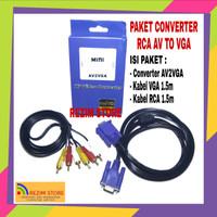 Converter Mini HD av2vga Adapter AV RCA to VGA Video konverter mini