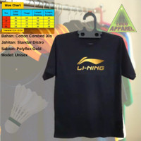 T-shirt Baju Kaos pendek badminton