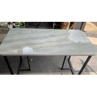 Meja Makan Meja Kantor Meja Belajar Grey Granit Marmer - Hitam Mb15