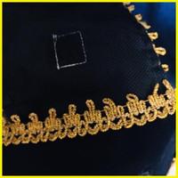 (Sehari Jadi) Slempang sash bordir wisuda hitam emas RENDA