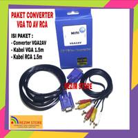 Kabel Converter VGA2AV To AV RCA Adapter VGA To RCA Full HD 1080P Mini