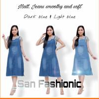 baju overall jeans wanita terbaru - Light blue, standar