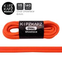 SOLAR ORANGE 115cm 140cm Oval Shoelace Tali Sepatu Olahraga KipzKapz
