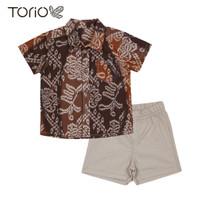 TORIO Smart Casual Gold Batik Set - Baju Setelan Batik Anak Laki-laki
