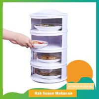 Meal Cover Rak Susun C50/C54 Penutup Makanan Tetap Hangat Cegah Lalat - 3 Tingkat