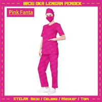 Oka / Baju Dress Wanita / Pria Pendek / Baju Jaga Perawat Terbaru