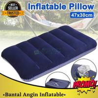 Bantal Leher / Bantal Angin Tiup Inflatable PVC Neck Pillow High Rest