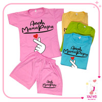Baju Anak Setelan Anak Perempuan Unisex Anak Mama Papa 0 - 4 Tahun