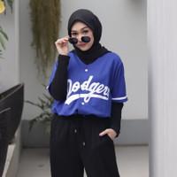 Baju Baseball Dodgers Biru Persib Pria Wanita