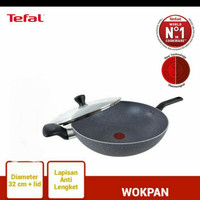 Tefal Natura Wok Pan Marble 32cm + tutup