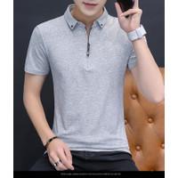 Baju Kaos Polo Pria CSL Bahan Cotton Combed Lenngan Pendek Zipper
