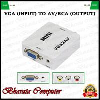 Converter VGA TO AV Konverter VGA TO RCA Box Mini
