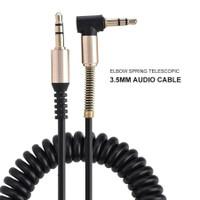 Kabel Aux Audio Mobil & Handphone Spiral jack L 3.5mm /kabel AudioCB05