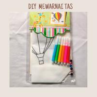 Mainan anak edukasi / Mewarnai tas / Mainan DIY - Kupu-kupu