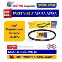 Paket V-belt Aspira (V-belt Kit) untuk Motor MIO J, X-RIDE, MIO GT