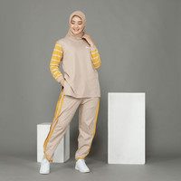 Baju Setelan Olahraga Wanita Muslim One Set Senam
