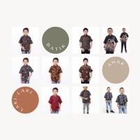 Baju batik anak + batik anak laki-laki + batik halus + batik tulis
