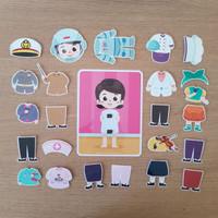 Busy Page - Aktivitas Anak DressUp Profesi Cewek (mainan magnet)
