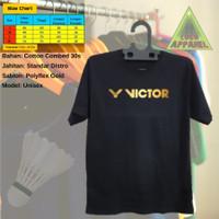 T-shirt Baju Kaos pendek badminton pria wanita