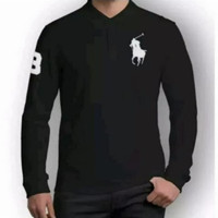 Polo Shirt - Kaos Kerah - Tshirt - Ralph Laurent Lengan Panjang pria