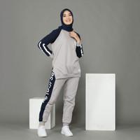 Baju Setelan Olahraga Wanita Muslim One Set Sporty