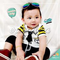 baju jumper bayi pilot karakter