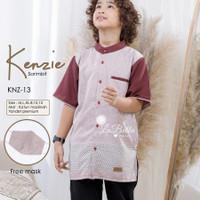 Baju Koko Anak Laki-laki Maroon Kenzie Labella