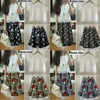 set dress remaja/set dress wanita/dress batik brokat/baju kantor/kerja