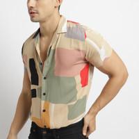 VENGOZ Kemeja Hawai Pria - Tristan Printed Shirt