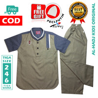 Baju Koko Anak AL-HADJ KIDS - Stelan Koko Anak Usia 2-4-6 Tahun
