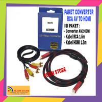 Paket converter AV RCA to HDMI Adapter AV2HDMI mini box with audio