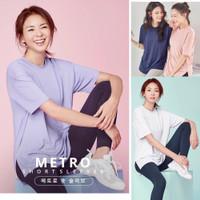 Baju Olahraga/Senam/Gym/Yoga wanita Lengan Pendek tersedia Jumbo