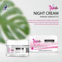 Yoshita Night Cream krim malam pemutih wajah plus Collagen