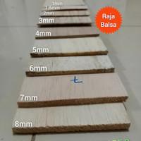 Kayu balsa sheet 3mm x 10cm grade B kayu maket / Kerajinan