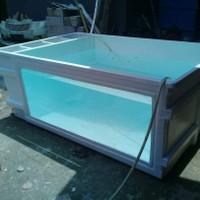 Bak fiber Kaca ukuran 2x1x80 bisa custom tinggi 80/100cm sistem PO