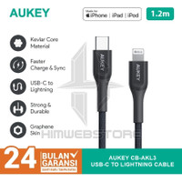AUKEY CB-AKL3 Kabel PD USB Type-C To Lightning Fast Charging Iphone