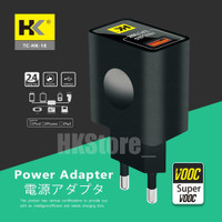 WALL CHARGER TC-D18 SUPER VOOC FAST CHARGING QC3.0 MICRO/TYPE-C - MICRO USB