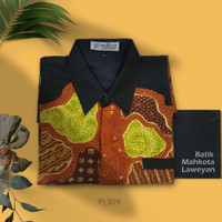 Kemeja Batik Tulis Abstrak Kontemporer PL309