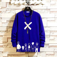 CJ7QS-Sweater Pria/Sweat-shirt/ROGER/Lengan Panjang-Distro-Kekinian