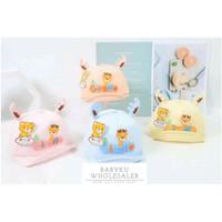Topi bayi baseball motif bear giraffe / Topi anak 3D animal karakter