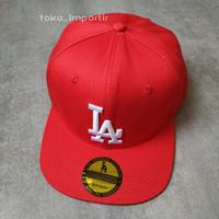 topi LA MLB baseball Import Mirror ORI full tag - lusinan