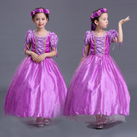 Baju Rapunzel Anak/dress rapunzel/kostum princess/dress anak karakter