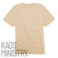 Kaos polos Cream lengan pendek cotton combed 20s 100% o neck Unisex