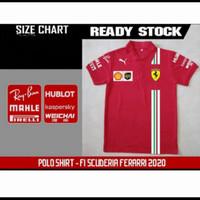 BIG SIZE Polo Shirt Kaos Kerah Pria XXXL & XXXXL Ferrari