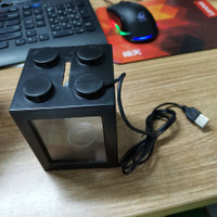 Aquarium Mini Cupang Gapy 2 Side Windows 8x8x11cm with USB Light - LAMPU USB