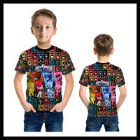 Kaos Baju Anak Karakter Power Ranger Mini Force 01 Fullprint