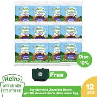 HEINZ Chocolate Biscotti 60 Gr - 12 pcs FREE Cooler Bag