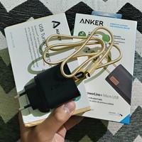 Aukey PA-U28 Q.C 2.0 18W 2nd + Powerline+ Micro USB 0.9M Gold BNOB